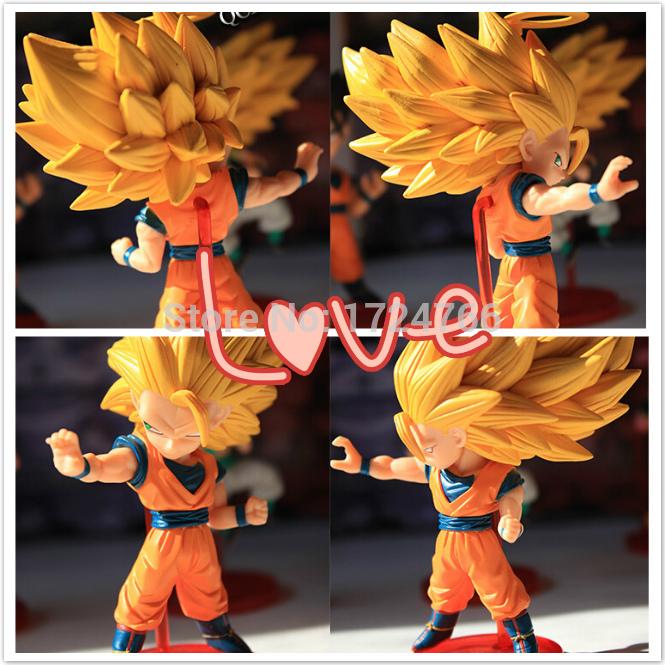 2015 Anime Dragon Ball Z Super Saiyan Son Goku Action Figure Collection Toy Dragon Ball Z Figur Super Son Goku Figure(China (Mainland))