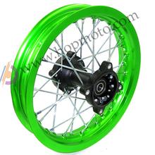 "Dirt bike Pit bike Wheel Rims Green 12mm or 15mm Axle 1.85x12"" Inch Rear Wheel Rim PIT PRO CRF KLX YZF BSE Kayo Chinese Bike(China (Mainland))"