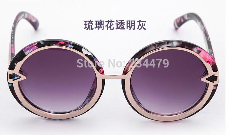 2015 New Sunglasses Women Brand Designer 2015 metal hollow out sunglasses Fashion big round box shave ms sun glasses sunglasses(China (Mainland))