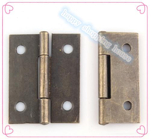 (38mm*30mm*0.8mm)1.5 inch 1 inch bronze antique hinge half an inch and a half in 1 and a half inches small antique hinge hinge(China (Mainland))