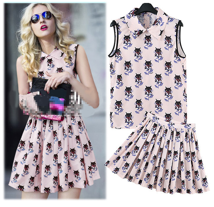 Summer new high-end Fashion casual long trade of the original single ladies boutique brand rose print dress wholesale(China (Mainland))