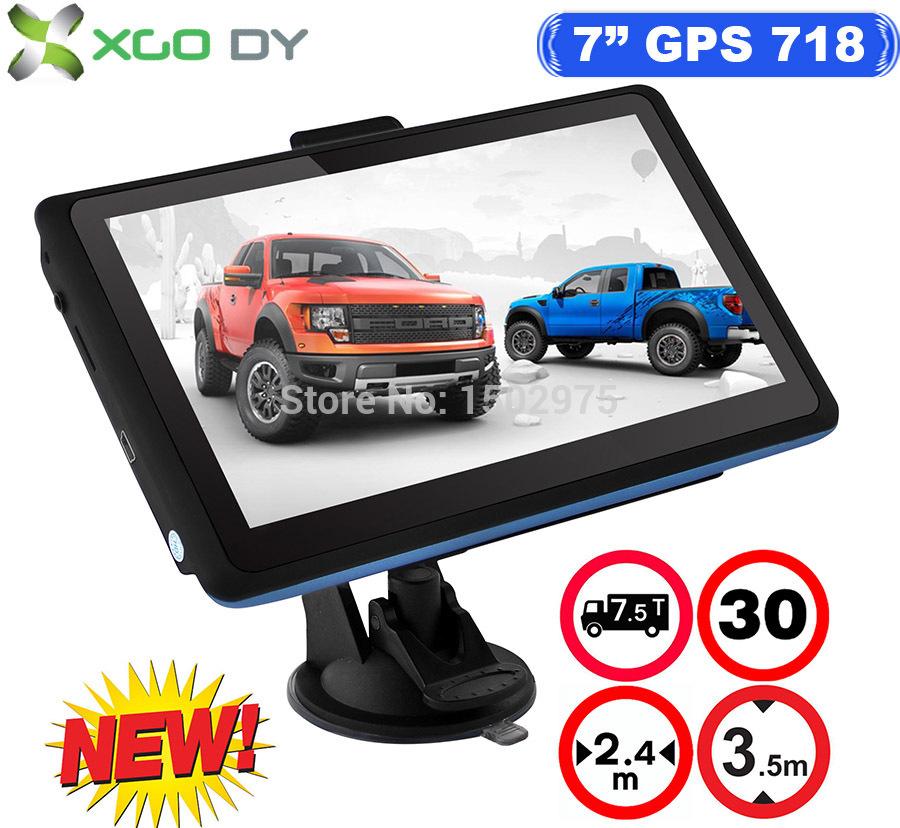 XGODY New Model 718 HD 800*480 7 inch TRUCK Car 2 in 1 GPS Navigation Navigator 4GB US UK EU AU New Map(China (Mainland))