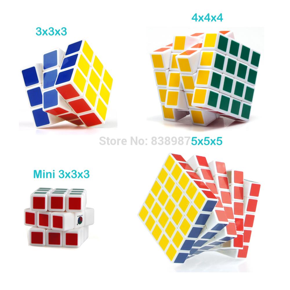 Discounted Free Shipping Diansheng Magic Cube Puzzles Set Educational Toy 4PCS/ Set 3x3x3 4x4x4 5x5x5(China (Mainland))