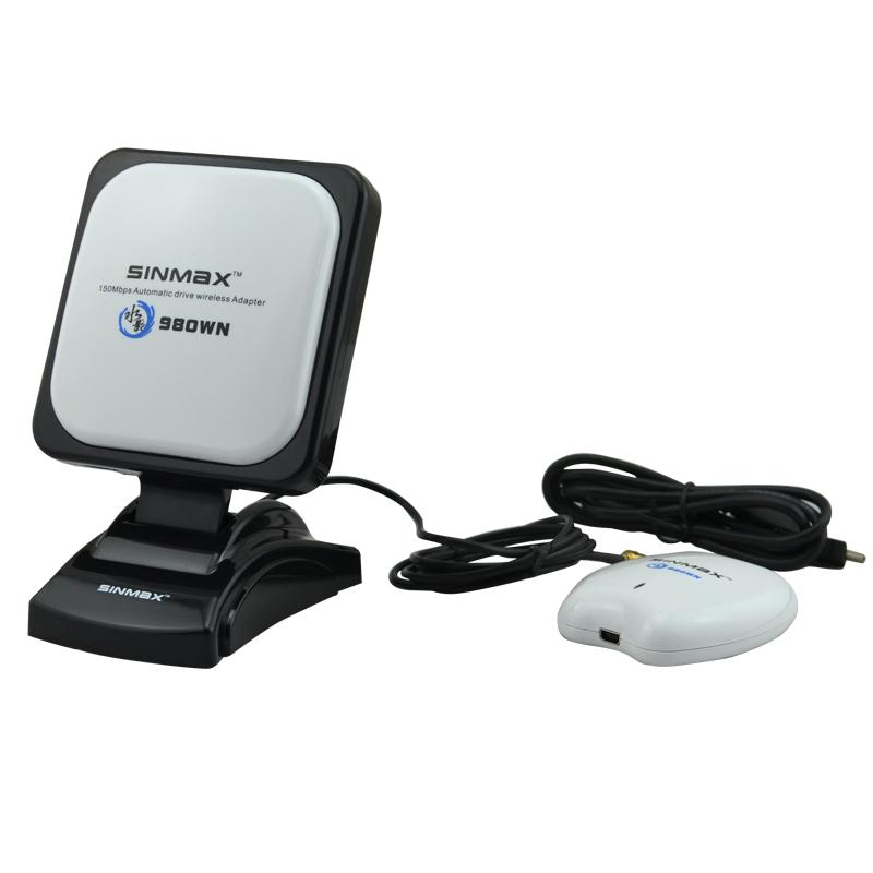 Free shipping high power USB wifi adapter Sinmax SI-7300NA sky wireless antenna signal long range wifi adapter(China (Mainland))