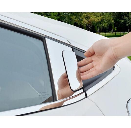 Window trim molding exterior - 2015 2016 Honda Hr V Vezel Window Chrome Pillar Post Cover Trim Jpg