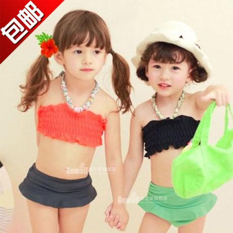 2015 топ мода купальники дети купальники купальник для девочек новый подлинный Loliness дети бикини деления девушка в шляпе