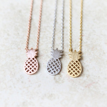 HOT SALE Statement Pineapple Necklace Fresh Fruit necklace Minimalist Accessories jewelry Fashion Choker Necklace for women