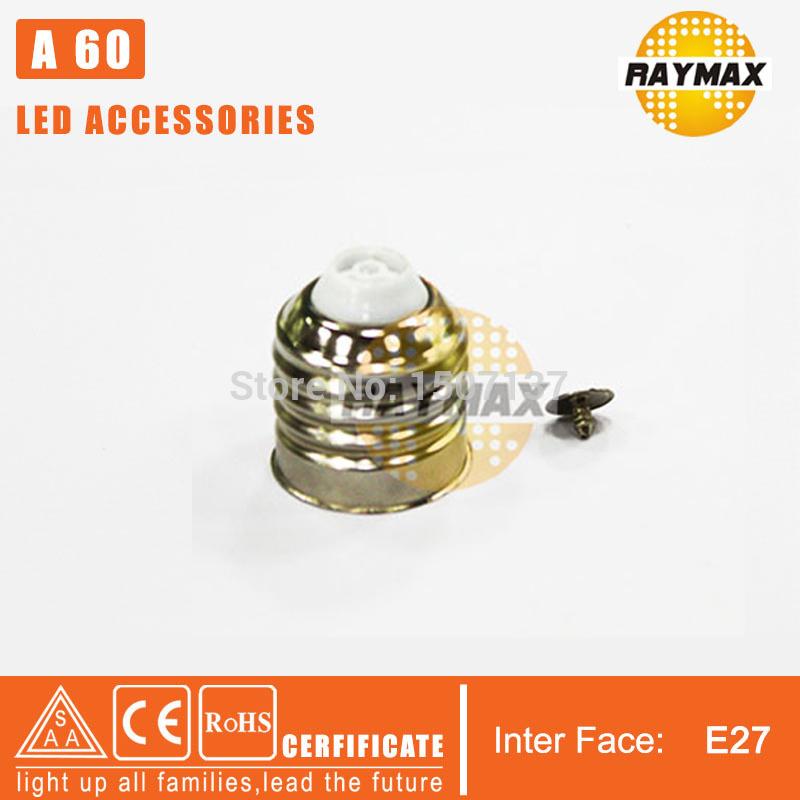 100pcs/lot led accessories DIY led e27 lampada led bulb base aluminum light base diy led parts e27 screw shell free shipping(China (Mainland))