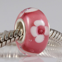 4 5mm Hole Fashion DIY Jewelry 925 sterling silver Loose Glass Charm Beads fit for European