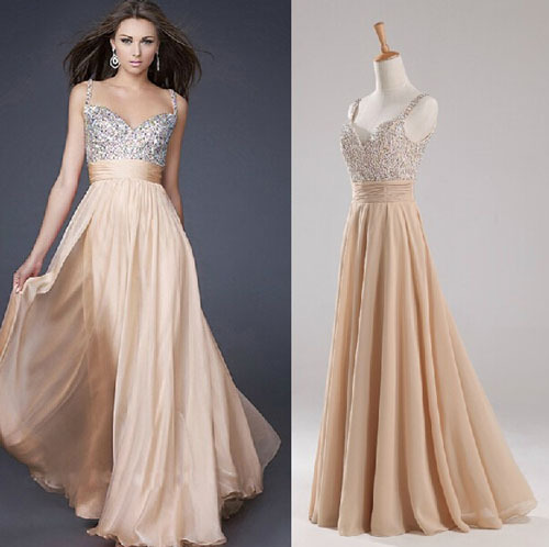 Fashionable Sexy Halter Backless Luxury Sequins Prom Dresses 2015 Cheap China Ice Elegant Belt Prom Dresses Real Photo A374A(China (Mainland))