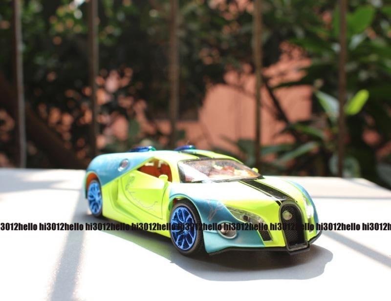 2015 New Style 1:32 Bugatti Model Car Pattern Diecast Car Toy Green UH061(China (Mainland))