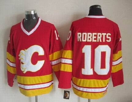 New Men's 2015 Calgary Flames Stitched #10 Roberts Jersey New Red/White Roberts Hockey Jersey 2015 Home/Road Roberts NHL Jersey(China (Mainland))