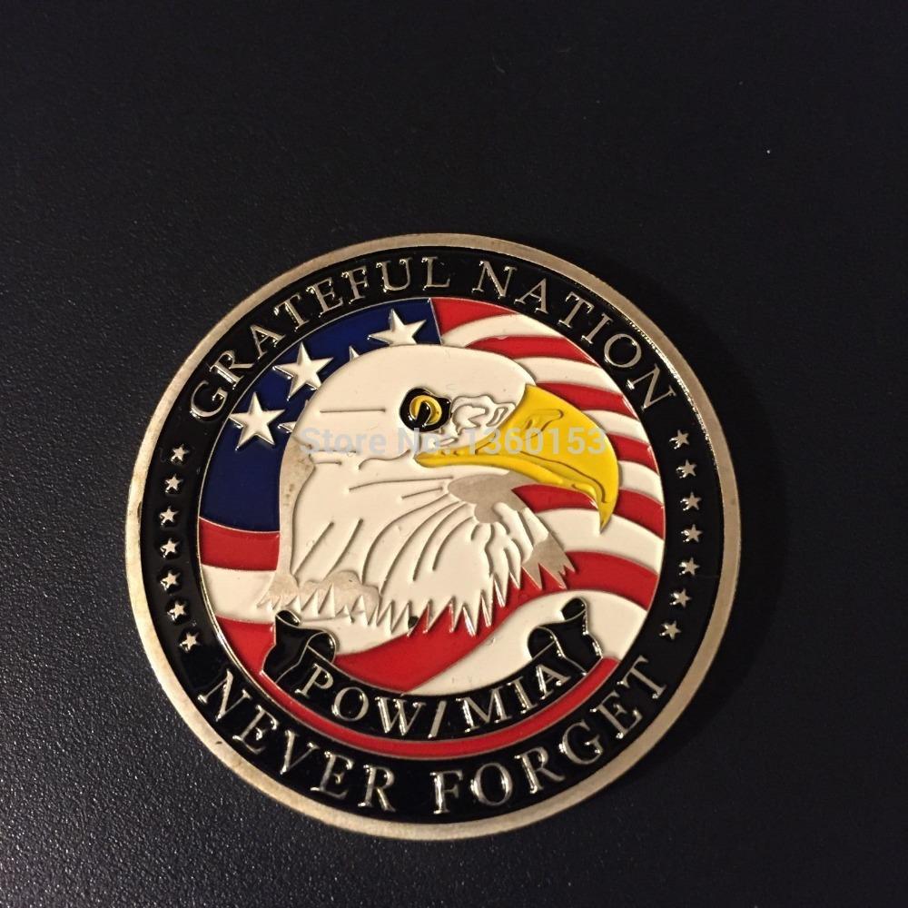 American gold coin ! 5 /pow Mia ' american Pow Mia coin coin 5 90
