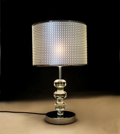 Sp cial europ en de haut table de cristal lampe moderne for Lampe de chevet chambre