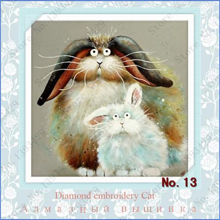 Cross Stitch Kit Diamond Embroidery DIY crafts Diamond painting 3D Square Diamond Needlework Picture of rhinestones Cat 13-16(China (Mainland))