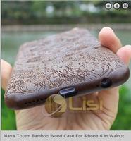 New  Fashion high quantity Maya Totem Walnut Wood Case  for iPhone 6