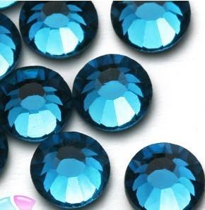 Blue Zircon SS16 Nail Art Rhinestones Crystal Top Quality Flatback Non Hotfix Nail Jewelry Accessories Nail Decoration Tool(China (Mainland))