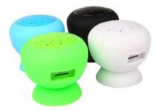 Mini Wireless Bluetooth Speaker Waterproof Silicone Sucker Hands Free portable TF Card Bluetooth FM radio speaker /Sound good(China (Mainland))