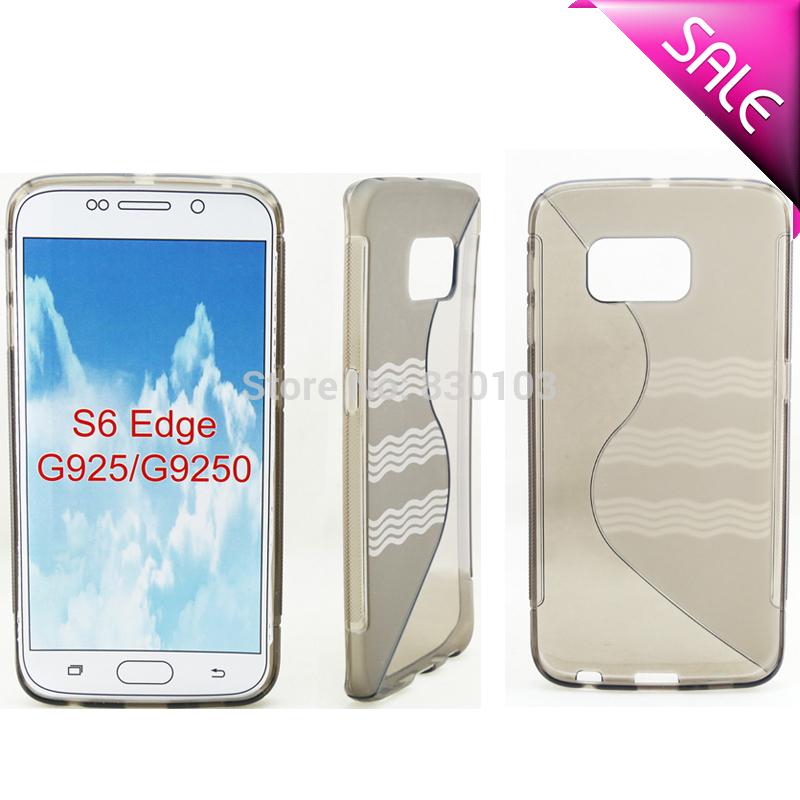 Bulk Buy from China via DHL Wave S Line Soft Gel TPU Case For Samsung Galaxy S6 Edge G9250 G925F(China (Mainland))