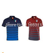 Top Thailand quality kits 2014 world cup Italy polo football shirt PIRLO soccer polo Italia soccer jersey T-shirt with logo(China (Mainland))