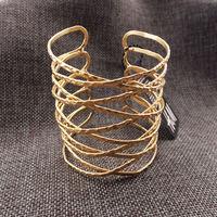 [Min. 6$]2015 Hot Sale Free Shipping New arrive Gold cuff bangle bracelet  S156