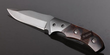 Folding knife hot sale knife 440C steel wood Handle knives with belt clip camping tools survival