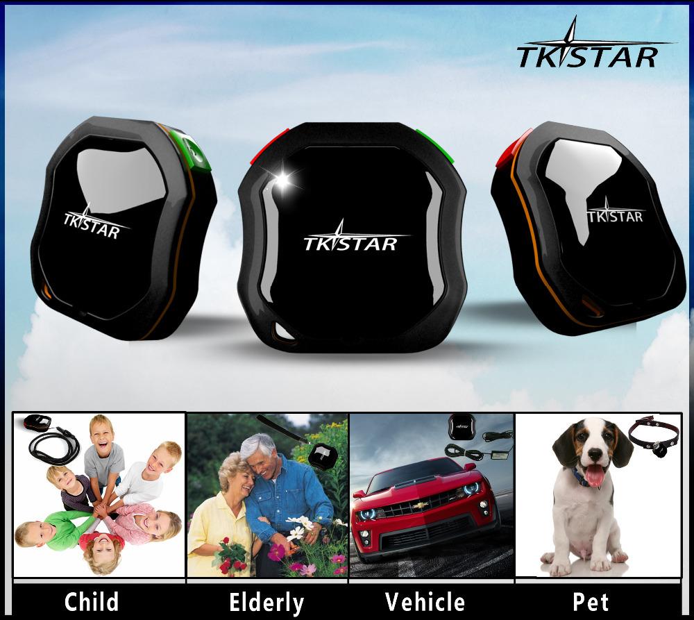 Vehicle Waterproof Car Mini Tracker Tracking System TKSTAR GPS Tracker GSM AGPS for Children Parents Pets Cars SOS communicator(China (Mainland))