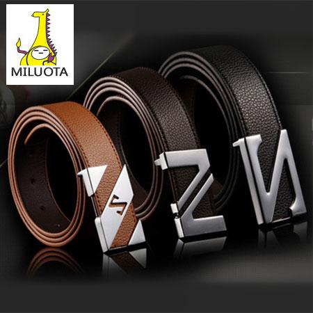 [MILUOTA] 2015 cinturones hombre brand belts for men ceinture high quality faux leather Metal buckle leather belt men WBT200(China (Mainland))