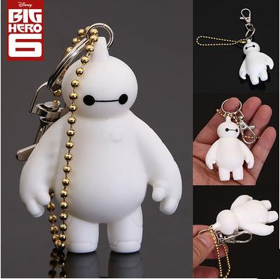 Baymax white doll accessories to light key chain(China (Mainland))