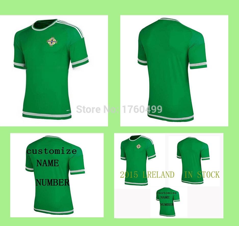 High quality 15/16 Northern Ireland Soccer Jerseys 15 / 16Ireland Home(China (Mainland))