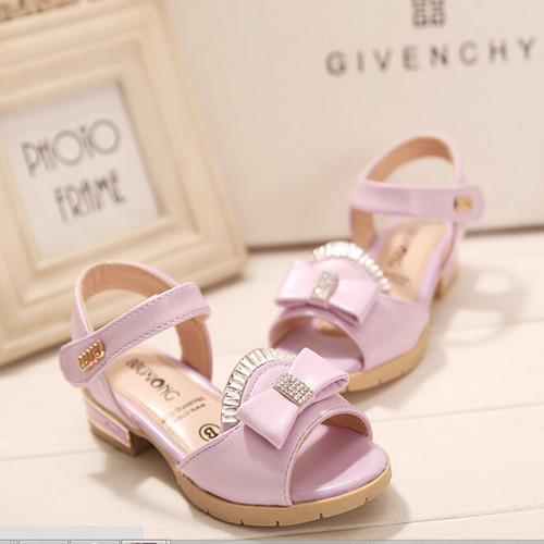 Новый 2015 горный хрусталь принцесса девушки сандалии на липучке кристалл мягкий pu детская обувь для летнего #1936