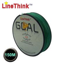 150M  LineThink Brand GOAL Japan Quality Multifilament 100% PE Braided Fishing Line Fishing Braid  Free Shipping(China (Mainland))