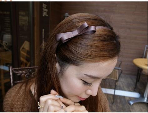 10pcs/lot Korean high-grade ribbon bow hair band handmade hairhoop Diamond head hoop bow design hair ornament wholesale(China (Mainland))