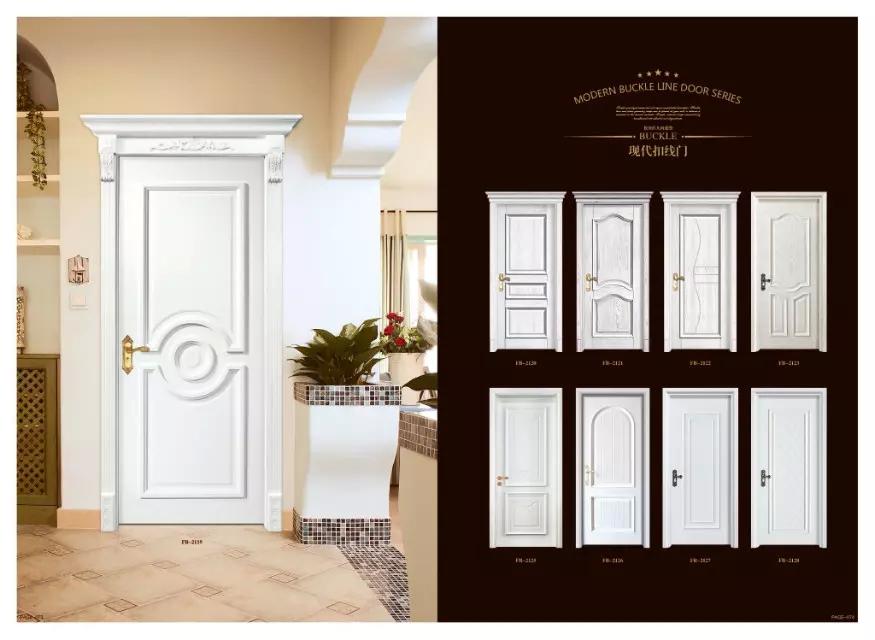 JIASHENG WOODEN DOOR European style striped interior door composite solid wood door painting wood door customized wood door(China (Mainland))