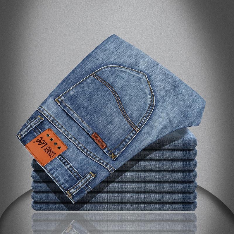 CONNER LEE men jeans calca jeans masculina casual dress pantalones vaqueros hombre pants mid cotton denim england style jean(China (Mainland))