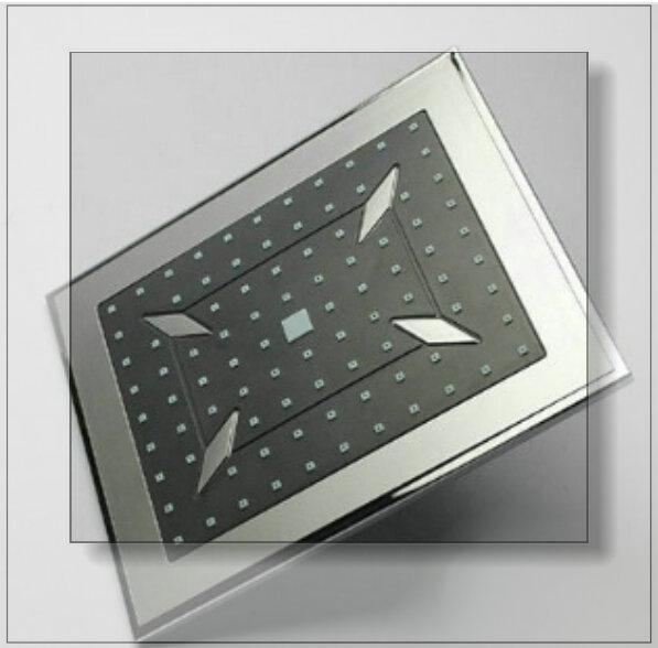 "8"" ABS plastic shower head rainfall bathroom bath mixer faucet tap chromed Grey ABS mixer(China (Mainland))"