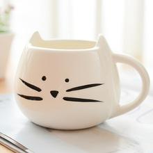 Zakka Lotion Coffee Cup Black And White Cat Animal Milk Cup Ceramic Lovers Mug Cute Birthday