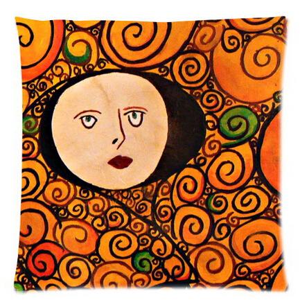 Austria Symbolon Painting Artist&Gustav Klimt Works Comfortable Cushion&Pillow case 18x18 Inch Great Gift(China (Mainland))