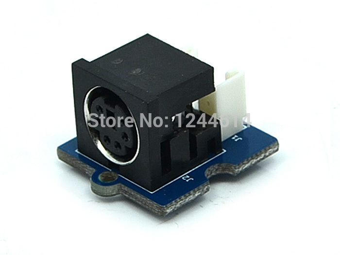 seeedstudio Grove - PS/2 Adapter for arduino board a PS/2 interface that you can plug a PS/2 mouse or keyboard directly(China (Mainland))