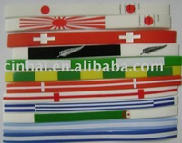 colorful country flag Silicone Wrist Band in high quality