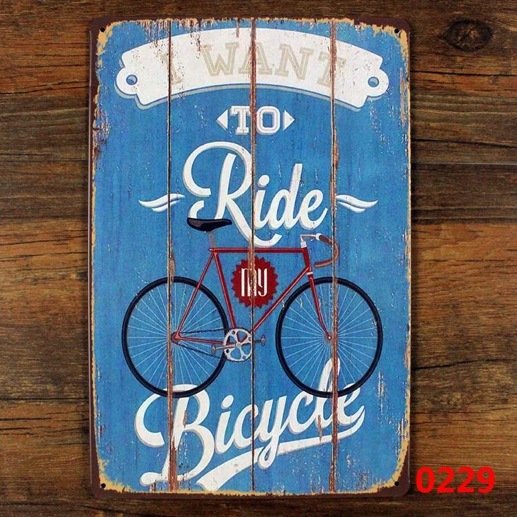 Riding Bicycle 20x30cm Retro Tin Poster Metal Tin Signs Tin Plaque Tin Paintings Advertising Shop Bar Garage Wall Decor(China (Mainland))