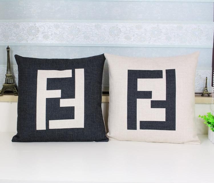Logo pillowcase, F pillow case, Luxury logo art F ikea throw pillow cushion cover pillow cover wholesale(China (Mainland))