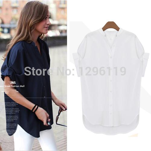 Lowest Price! Women Plus Size Clothings 2015 Summer Chiffon Blouses Shirts Free Shipping #TS501(China (Mainland))