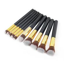 2015 Hot! 10pcs Professional Cosmetic Makeup Brush Set Foundation Brush Eyeshadow Professional Makeup Brush Free Shipping