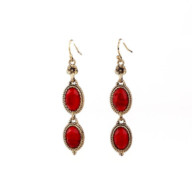 Fine jewelry wholesale Ms gem tassel earrings elegant unusual great jewelry decorative pattern(China (Mainland))