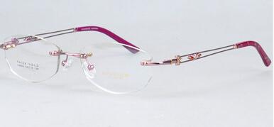 Fashionable diamond style women's glasses Rimless high quality metal oculos de grau N8025(China (Mainland))