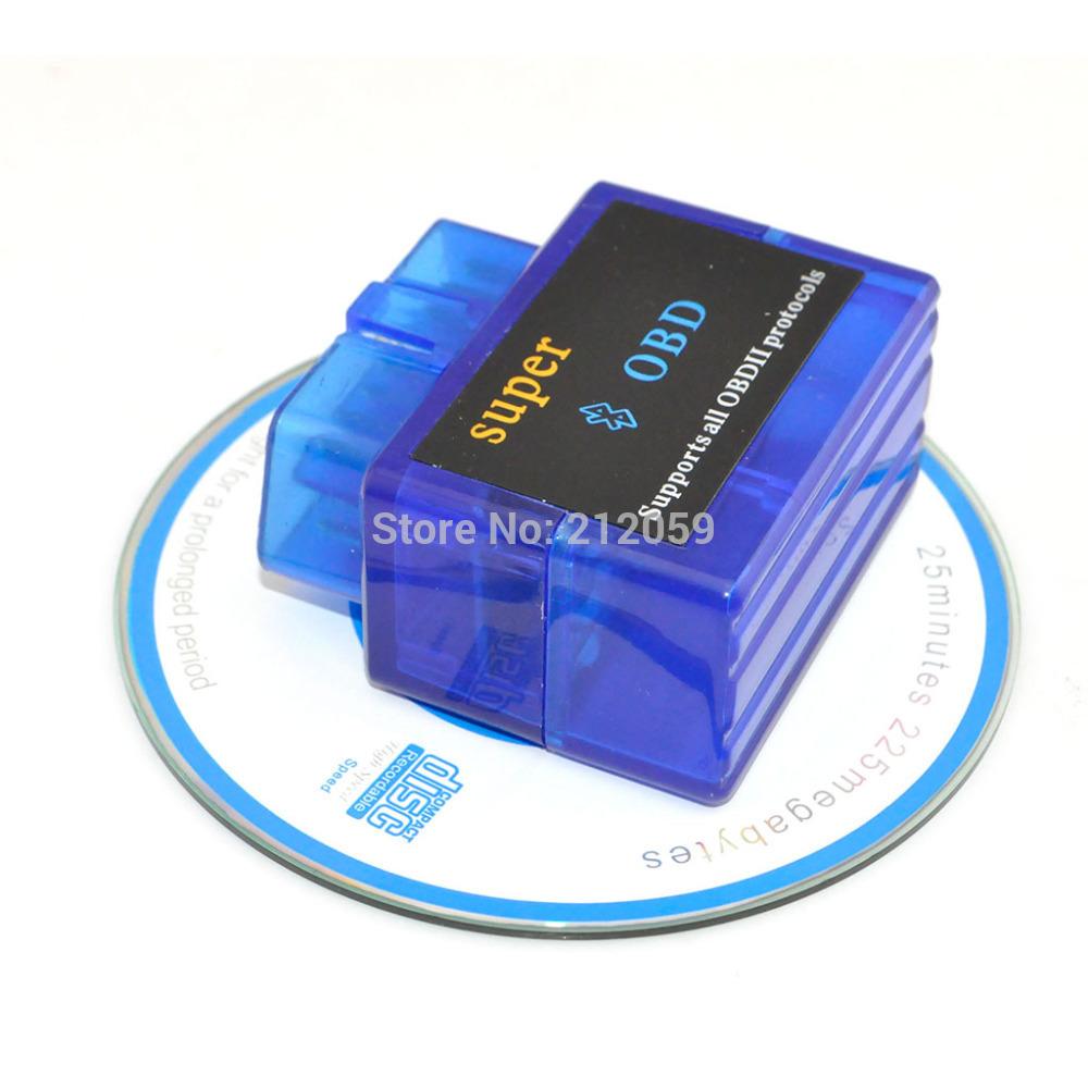 Mini Auto ELM327 Bluetooth V1.5 ODB2 ODBII Car Diagnostic Scanner Tool for Torque Android (Blue)(China (Mainland))