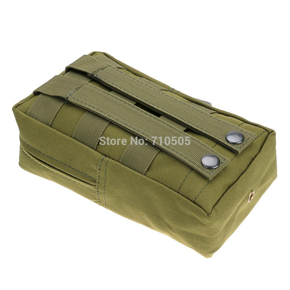 Открытый тактический военный нейлон вентиляторы армии камо журнал сумка талия сумка чехол - зеленый цвет