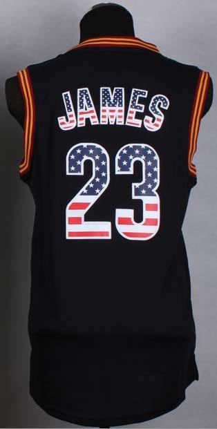 2015 Basketball jerseys cavs 23 Lebron James Jersey National flag Black Jerseys, swing basketball Rev 30 man jerseys(China (Mainland))
