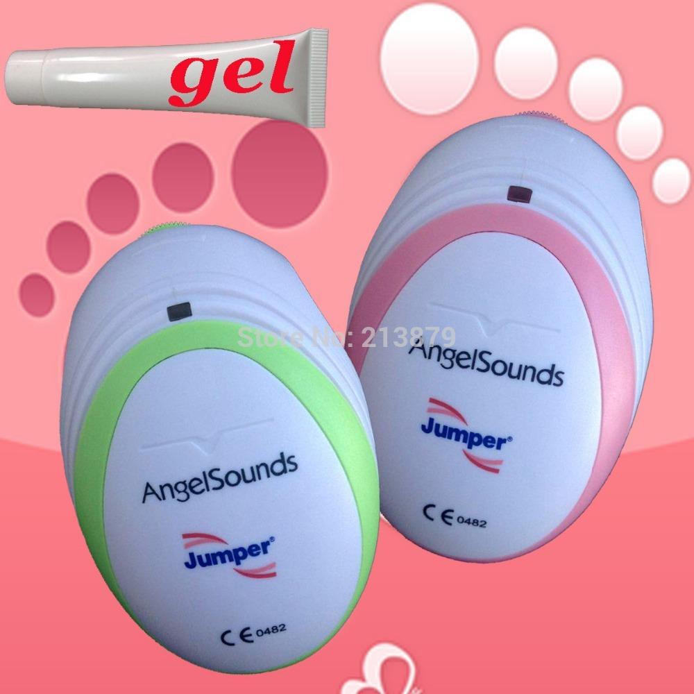 Pink/Green Color!! CE&FDA Angelsounds Fetal Doppler Pocket Ultrasound Baby Heart Rate Monitor Portable Prenatal Fetal+Free Gel(China (Mainland))